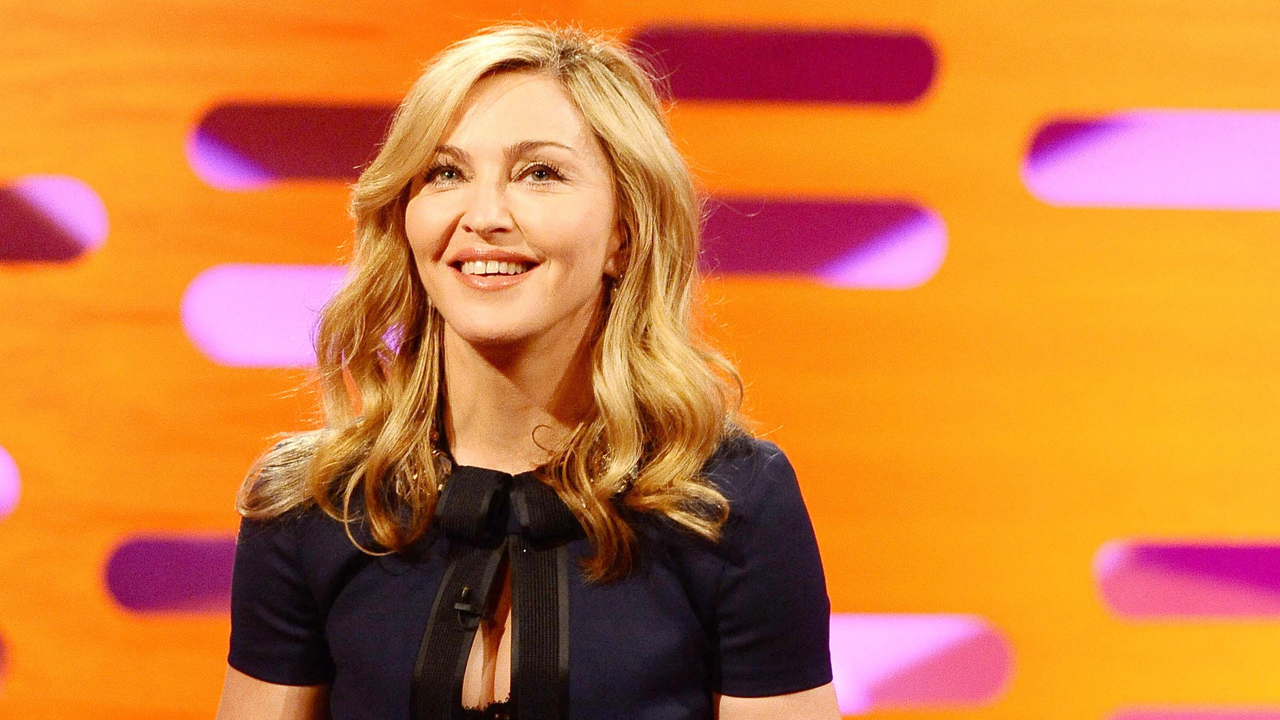 Madonna is all smiles in her 'Graham Norton Show' debut during episode 10.