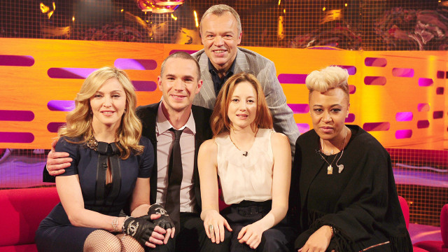 Madonna, James D'Arcy, Andrea Risenborough and Emeli Sandé gather with Graham for Episode 10.