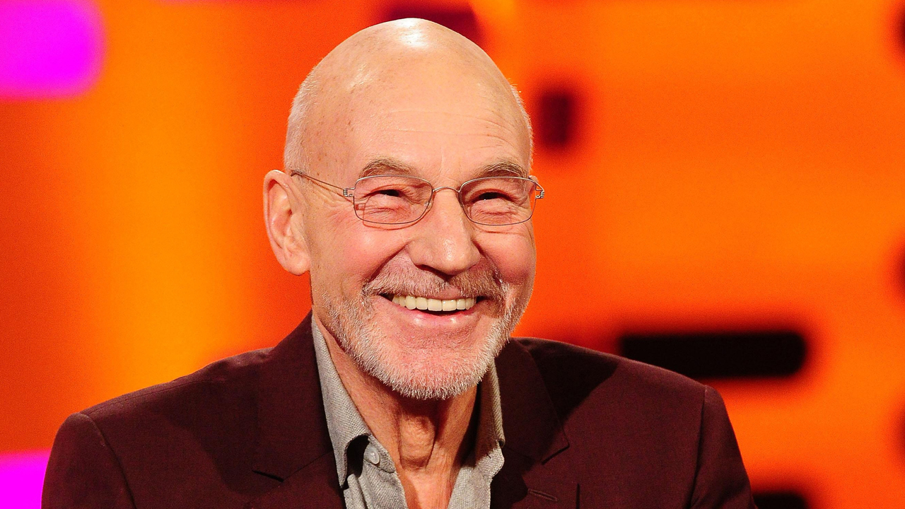Sir Patrick Stewart talks about his famously bald pate.