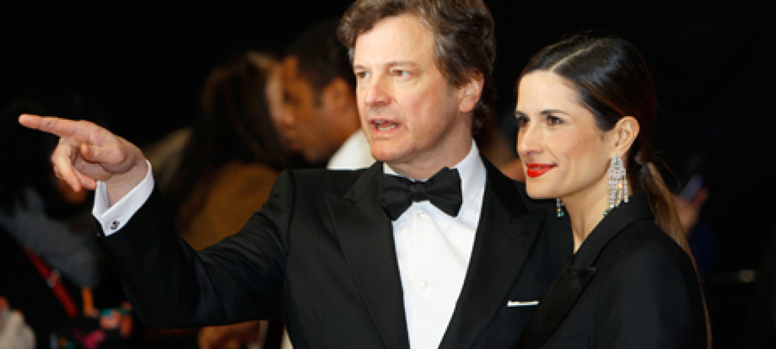 Photos from the BAFTAs red carpet – Colin Firth with wife Livia Giuggioli