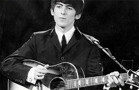 George Harrison Playing His Gibson Acoustic