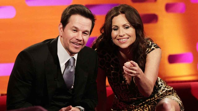 Hollywood stars Mark Wahlberg and Minnie Driver ham it up for the camera.