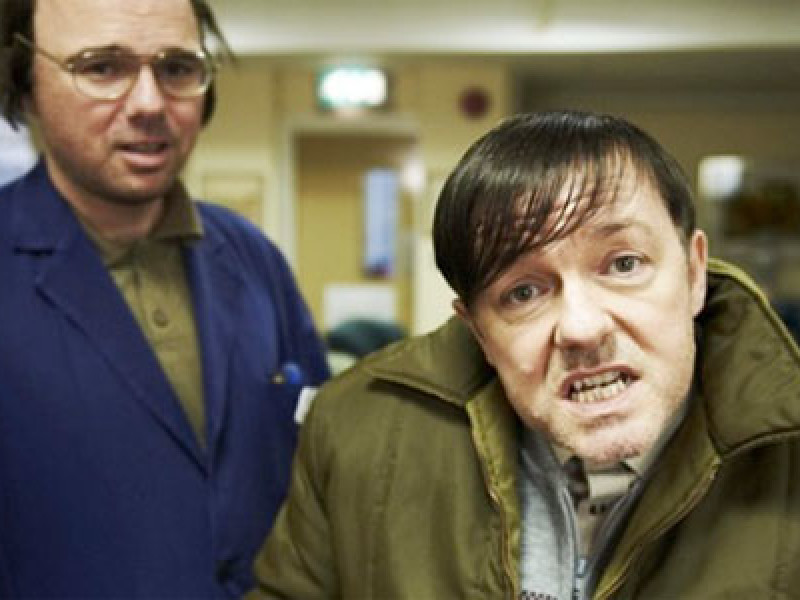 Karl Pilkington and RIcky Gervais in 'Derek'