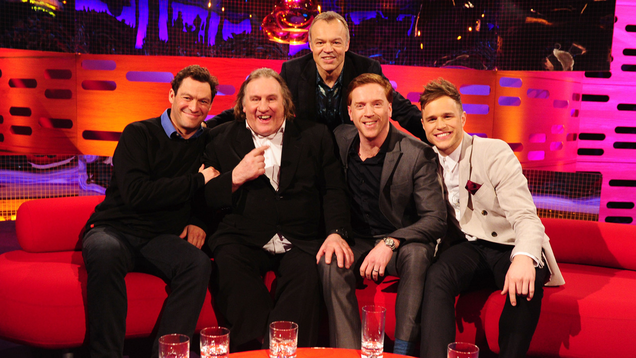 Graham's all-star guest list for episode 18: Dominic West, Gérard Depardieu. Damian Lewis and Olly Murs.