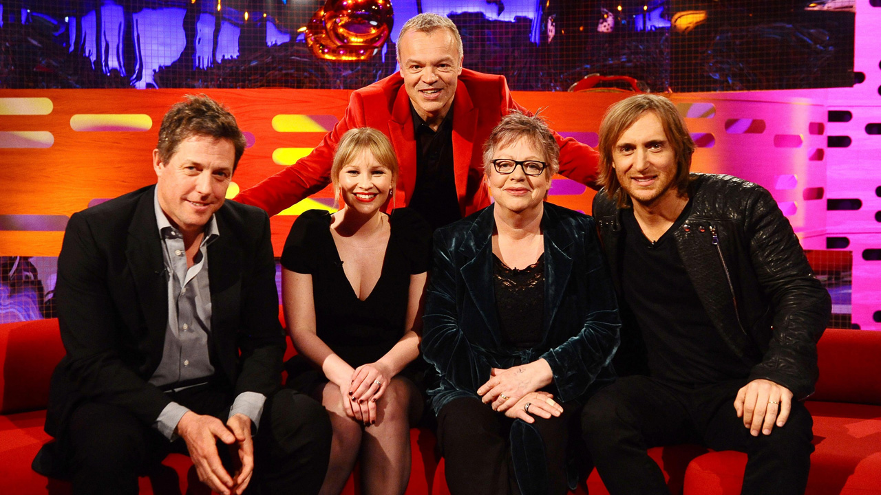 Graham's all-star cast for episode 19: Hugh Grant, Joanna Page, Jo Brand and David Guetta.