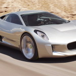 This one isn't available yet. Top Gear UK reported that Jaguar gave the green light to build this partly green super car. It's going to have four electric engines – one on each axel – that will work in conjunction with a four-cylinder gas engine. At one point, in its planning stages, the C-X75 boasted a jet engine, which Top Gear is still hoping will be incorporated after the initial run of 250 cars is produced in the next few years. Oh, some stats: it's expected to have 800 horsepower, it's lighter than a Ford Focus – and it's expected to cost between £700,000 and £900,000.