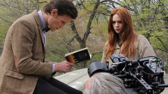 Lights, camera...action! Get a behind-the-scenes look at Matt Smith and Karen Gillan filming in Central Park, New York City.