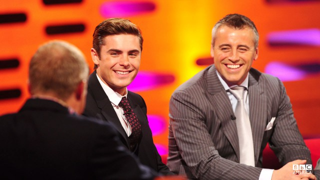 Zac Efron and Matt LeBlanc on Episode 2 of 'The Graham Norton Show.'
