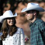 While Kate is more often seen wearing peculiar fascinators, she and hubby Will wore cowboy hats as they watched Canadian rodeo at the Calgary Stampede. (Nathan Denette, The Canadian Press/AP Images)