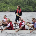 "On Prince Edward Island, Will and Kate took part in a ""dragon boat"" race – on opposing teams. Will's boat came in first: ""There's no chivalry in sport,"" he joked.   For a BBC News video report on the boat race and on William's participation in a helicopter maneuver known as ""waterbirding,"" click here. (Paul Chiasson, The Canadian Press/AP Images)"