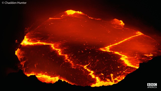 Erta Ale lava lake in Ethiopia.