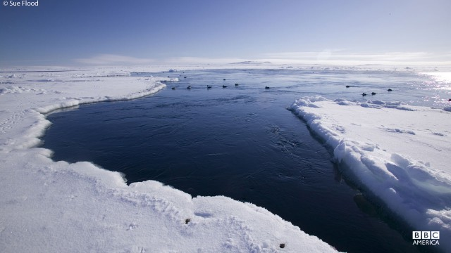 A view of the water in Hudson Bay, Canada.