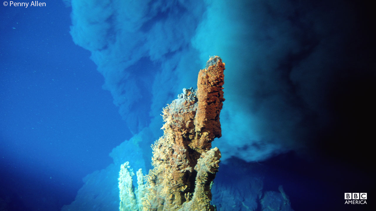 The 'Rainbow Vent'is a collection of deep-sea hydrothermal vents that lies southwest of the Azores.