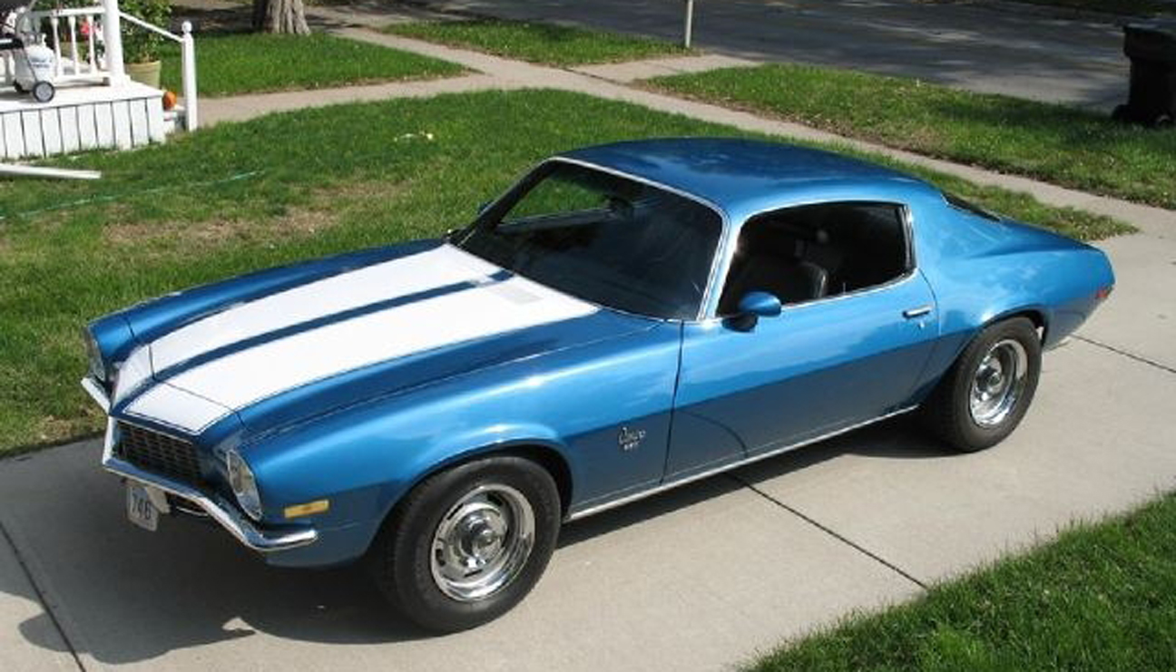 1970 Blue Striped Camaro - Sent by Christopher C