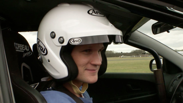 Time Lord Matt Smith takes a break from the TARDIS to ride a Reasonably Priced Car