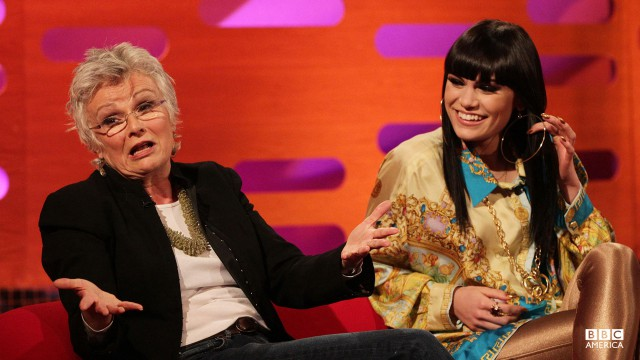 Julie Walters and Jessie J gab it up.