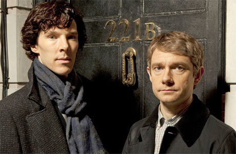 Benedict Cumberbatch and Martin Freeman (Photo: Masterpiece/BBC)