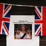Partygoers were asked to caption photos of Her Majesty. Check out the bits of wit the attendees produced.  (Photo: Martin Roe Photography)