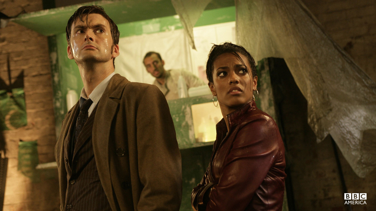 """I traveled across the world, from the ruins of New York to the fusion mills of China. Right across the radiation pits of Europe. And everywhere I went, I saw people just like you, living as slaves. But if Martha Jones became a legend, then that's wrong because my name isn't important. There's someone else. The man who sent me out there, the man who told me to walk the Earth. And his name is the Doctor. He has saved your lives so many times and you never even knew he was there. He never stops, he never stays, he never asks to be thanked. But I've seen him, I know him, I love him. And I know what he can do."" – Martha Jones"