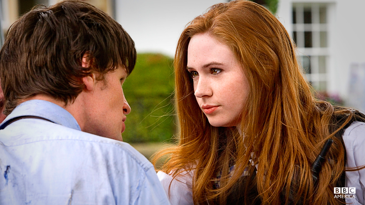 Amy Pond (Karen Gillian) Adventurous, feisty, fearless and occasionally reckless, Amy Pond is the first companion of the Eleventh Doctor (and the show's second ginger after Donna Noble!) Unlike other companions, Amy never played coy with the Doc, almost managing to seduce him. It's her vivacious personality that makes her a popular sidekick.