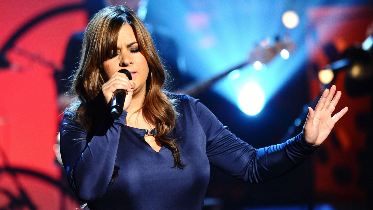 Rumer performs live in the studio.