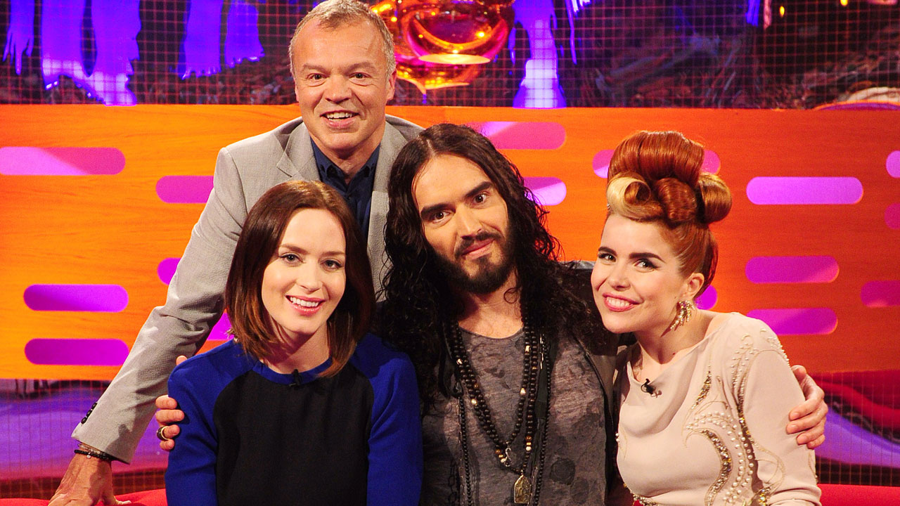 Emily Blunt, Russell Brand and singer Paloma Faith join Graham for Episode 8.