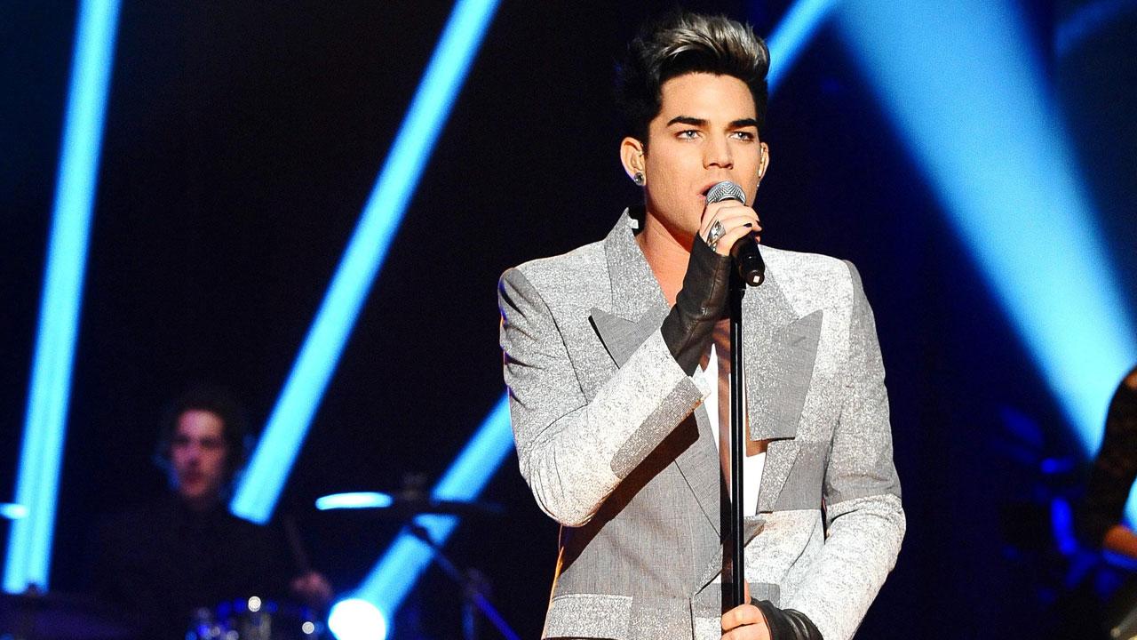 'American Idol' star Adam Lambert performs live in the studio.