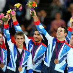 "For all these guys, their first Olympic Games, to get a medal is unbelievable,"" Louis Smith told BBC Sport after the ceremony. ""Silver? Bronze? It doesn't matter, we enjoyed it, it was fantastic."" (Andrew Milligan/PA Wire; Press Association via AP Images)"