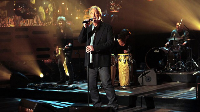 Tom Jones performs live in the studio.