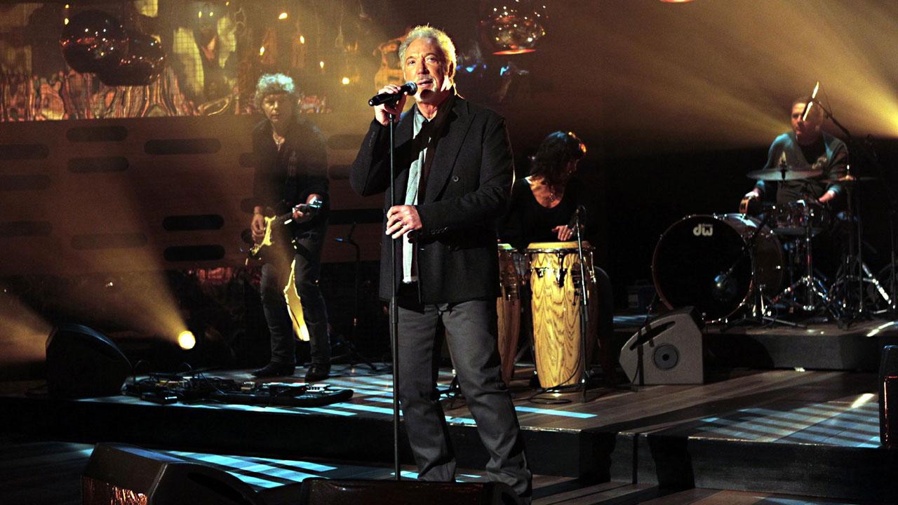 Tom Jones performs live in the studio.