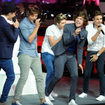 """Boy band One Direction were trending globally during their performance of their worldwide hit, """"You Don't Know You're Beautiful."""" (Press Association via AP Images)"""