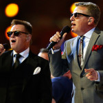 "Madness, who also headlined the Diamond Jubilee concert in June,  performed their global hit ""Our House."" (AP Photo/Matt Dunham)"