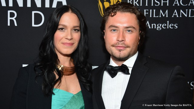 Franka Potente steals a moment with her co-star, Kevin Ryan on the Britannia Awards red carpet.