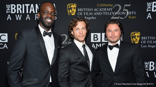 "The ""Copper"" fellas clean up nice! The stars of BBC America's hit drama ""Copper,"" were dressed in their best for the star-studded 2012 Britannia Awards. Check out Ato Essandoh, Franka Potente, Kyle Schmid, and Kevin Ryan working the red carpet, then tune in for the awards show this Sunday, November 11 at 7:30/6:30c."