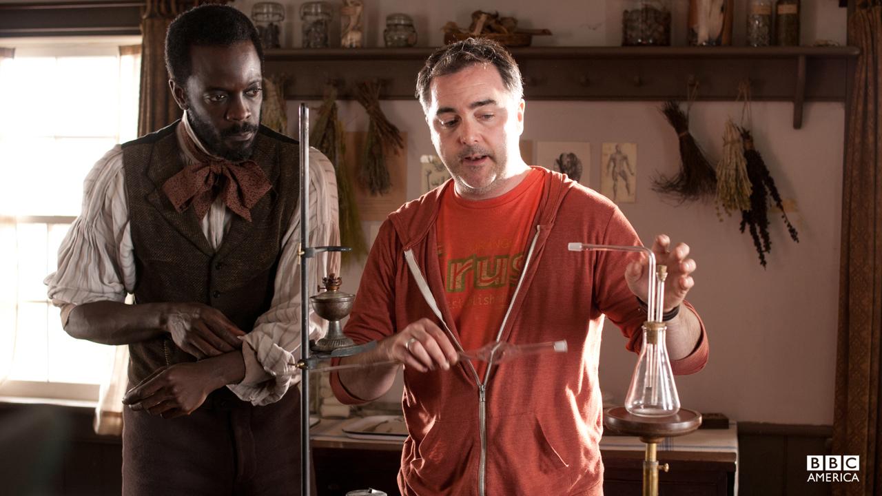 Ato Essandoh gets a chemistry lesson.