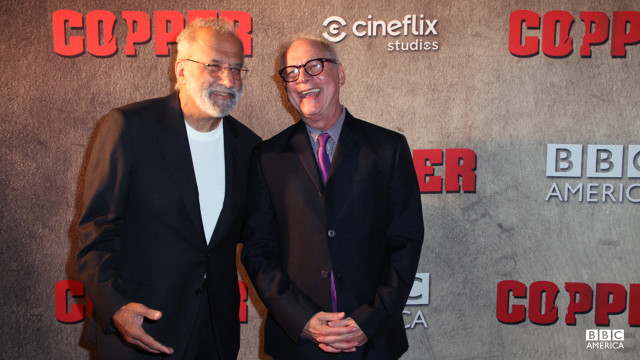 """Copper""'s esteemed Executive Producers Tom Fontana and Barry Levinson step out from behind the camera for a night."