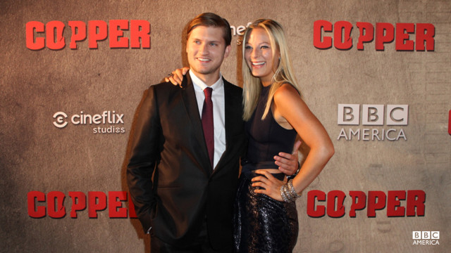 Tom Weston-Jones and co-star Anastasia Griffith prove that blondes really do have more fun.