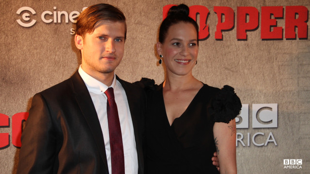 "Co-stars Tom Weston-Jones and Franka Potente play ""Copper""'s ""friends with benefits"" Detective Kevin Corcoran and Madame Eva Heissen."