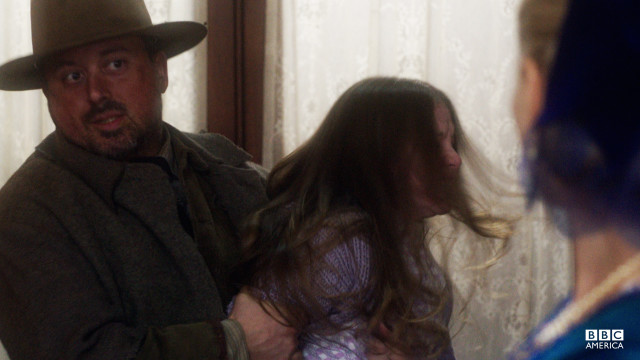 Elizabeth is tricked into believing that John Reilly is Annie's father, and unknowingly hands Annie over to a monster.