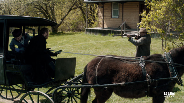 Elizabeth leaves John Reilly's farm empty handed, realizing she can do nothing to save Annie now.