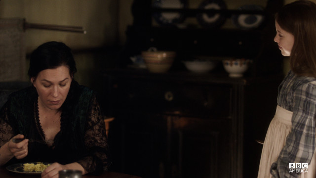 Eva's disturbed when Annie suggests she's been filling in as Corcoran's wife.