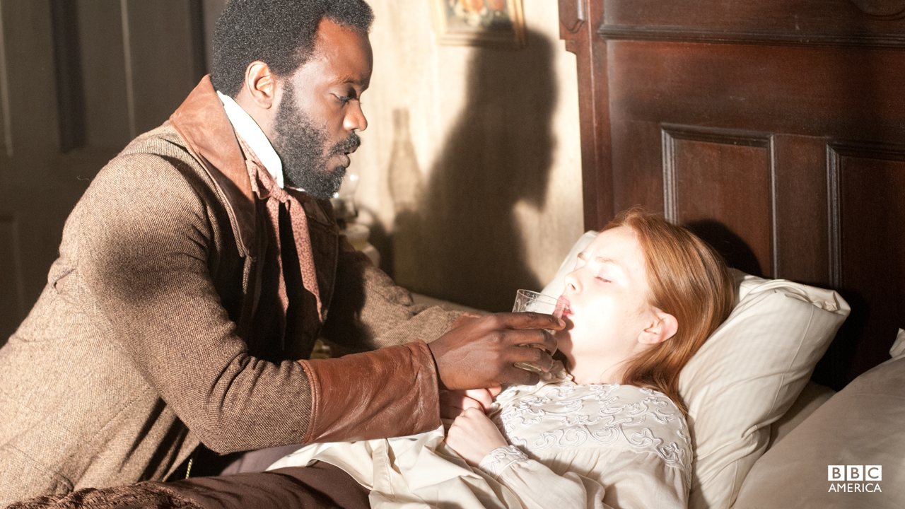 Doctor Matthew Freeman treats Corcoran's ailing wife.