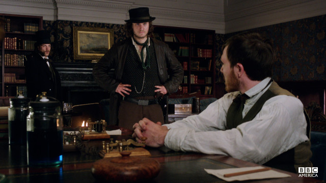 A man of many talents, Corcoran reveals to the Morehouses' secretary that he's well-versed in Morse code.