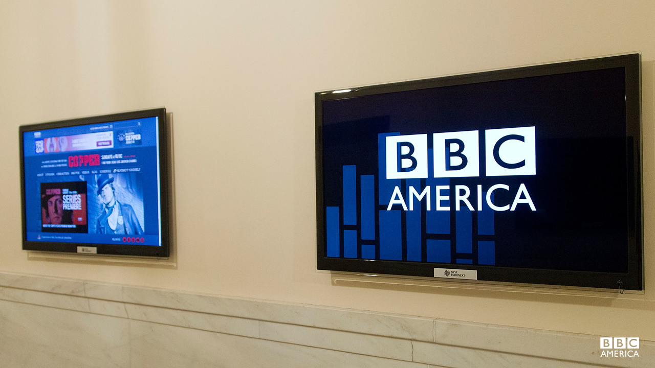 The monitors of NYSE get a BBC America-style makeover.