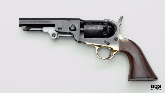 A .36 caliber black powder pistol.