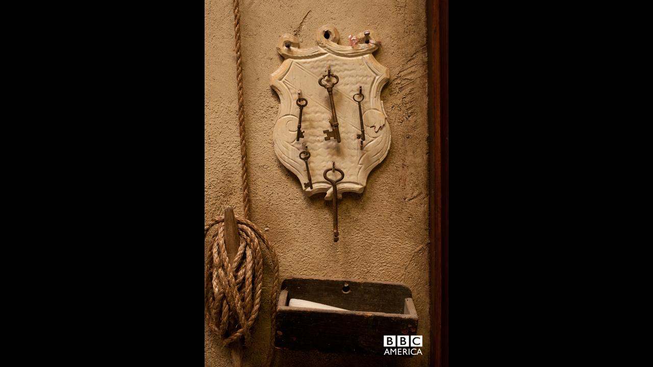 The keys to the kingdom, or in this case, the keys to the rooms of Eva's brothel.