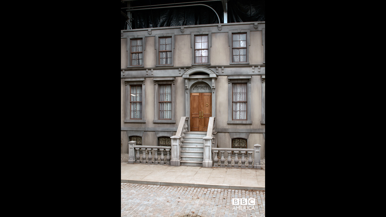 The view of aristocrat Elizabeth Morehouse's Manhattan mansion.