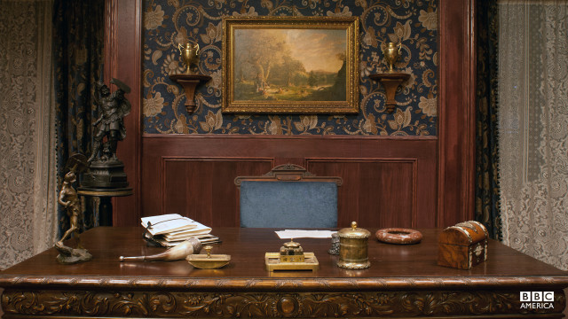 A look inside Robert Morehouse's office, in his uptown New York mansion.