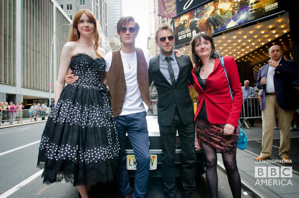Karen Gillan, Matt Smith, Chris Hardwick and Caroline Skinner. (Photo: Dave Gustav Anderson)