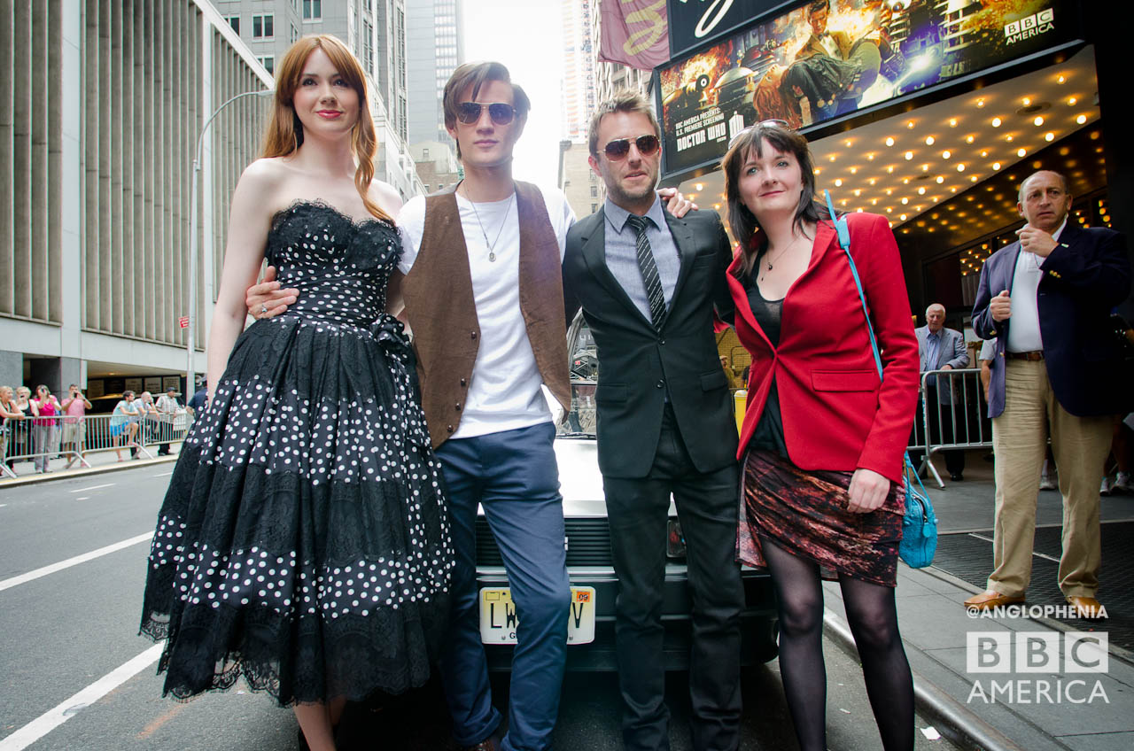 Karen Gillan, Matt Smith, Chris Hardwick and Caroline Skinner. (Photo: Dave Gustav Anderson)